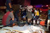 TIR, önündeki kamyona çarptı: 2 yaralı
